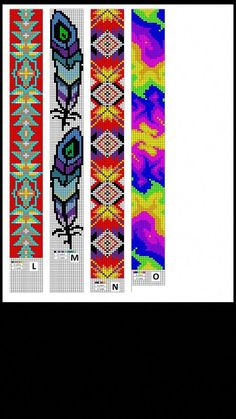 Bead patterns made by Collier's Tack & Supply. Bead patterns made by Collier's Tack & Supply. Native Beading Patterns, Seed Bead Patterns, Native Beadwork, Native American Beadwork, Peyote Patterns, Cross Stitch Patterns, Cross Stitches, Jewelry Patterns, Loom Bracelet Patterns