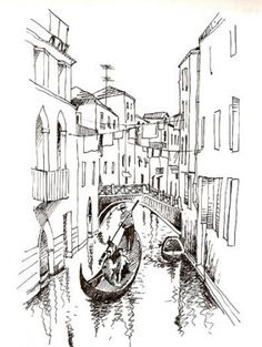 Drawing lapiz color 19 Ideas #drawing Landscape Pencil Drawings, Pencil Art Drawings, Art Drawings Sketches, Building Drawing, Building Sketch, Architecture Sketchbook, Arte Sketchbook, City Drawing, Painting & Drawing