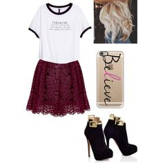 Believe!!!! by merima2002 on Polyvore featuring H&M, Alice + Olivia, Casetify, women's clothing, women's fashion, women, female, woman, misses and juniors
