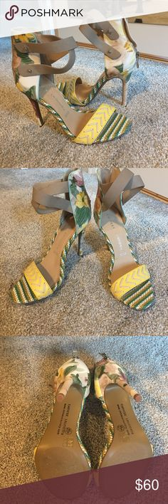 Chinese Laundry heels Perfect for Spring or Summer! Strapped ankle with zipper closure. NWOT Never worn. Chinese Laundry Shoes Heels