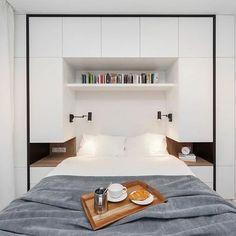 Small Modern Bedroom, Small Master Bedroom, Modern Bedroom Design, Cozy Bedroom, Bed Design, Bedroom Decor, Bedroom Ideas, Bedroom Designs, Bedroom Closet Design
