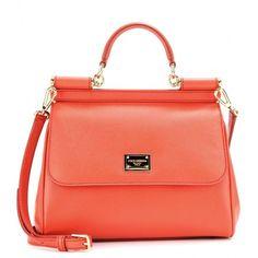Dolce & Gabbana Mini Miss Sicily Leather Shoulder Bag found on Polyvore