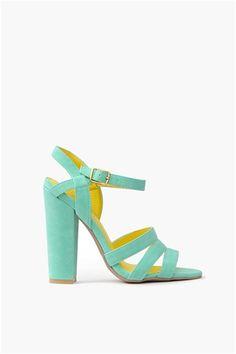 Carrie Strap Sandal - Sea Green/ mint