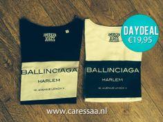 DAYDEAL   Ballinciaga t-shirt zwart of wit  van €23,95 - voor €19,95 (alleen vandaag geldig)   http://www.caressaa.nl/T-shirts