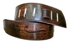Guitar strap Violin / Leather handmade guitar strap / Cool guitar strap