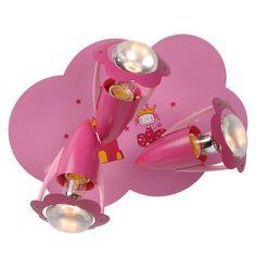 Plafonnier rose en métal 3 lumières hauteur 18 cm longueur 36 cm  Pinky