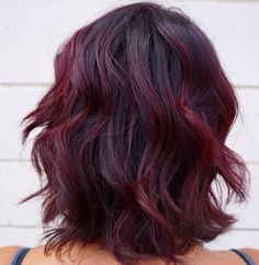 Black+Bob+With+Burgundy+Balayage