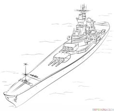 how to draw a battleship video
