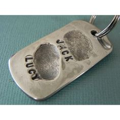 How to make fingerprint jewelry free tutorial fingerprint fingerprint jewelry silver personalized keychain fathers day gift for dad from kids solutioingenieria Choice Image