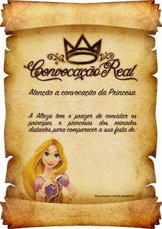 Convite Pergaminho Rapunzel 4