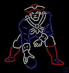 Commemorative 1961 New England Patriots Neon Sign  Power cords are 6' long. We supply the hanging hardware you will need to get your sign up and working for you. Unless an outdoor sign is requested the neon signs are for indoor use only.