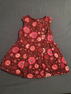 3 3T Gymboree red dress leopard flowers TWINS bloomers VGUC