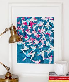 """""""Color Migration on Blue"""" art print by COZAMIA  #art, #decor, #cozamia - Love this artist's work!"""