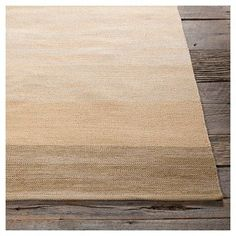 """India Hand-Woven Striped Cotton Area Rug - Taupe/Beige - (7'9""""x0'6"""") - Chandra, Brown Beige"""