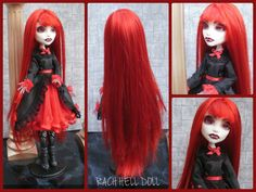 monster high custom repaint Nadine the vampire by Rach-Hells-Dollhaus on deviantART