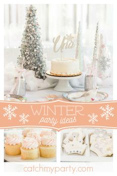 Dont Miss This Magical Winter Onderland 1st Birthday Party The Cake Is