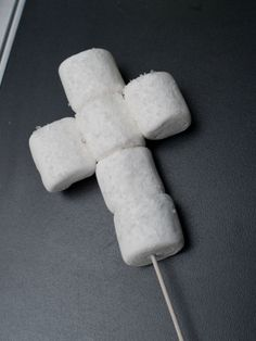 Marshmallow crosses for baptism favors. Can be used for communion favors too!