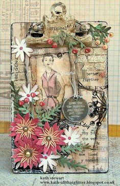 Kath's Blog......Funky Floral Mini Clipboard