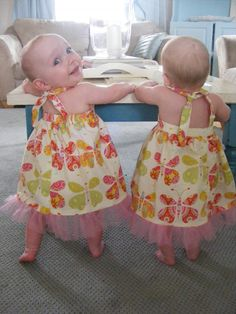 The Complete Guide to Imperfect Homemaking: Baby Halter Dress {free pattern and tutorial}