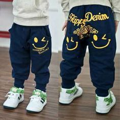 Retail 2016 New spring autumn cotton kids pants Boys Girls Casual Pants 2 Colors Kids Sports trousers Harem pants Hot Sale Girls Harem Pants, Kids Pants, Baby Pants, Sports Trousers, Sport Pants, Printed Trousers, Trousers Women, Hip Hop, Cotton Pants