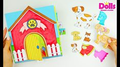 DOG FAMILY DOLLHOUSE QUIET BOOK IDEAS FOR PAPER DOLLS HOW TO MAKE Paper Doll House, Paper Dolls, Doll Drawing, Drawings, Books, How To Make, Ideas, Youtube, Sketches