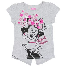 Description: Minnie Mouse Girls Toddler T-Shirt with glitter print Color: Grey Sizes: Label: Disney Country of Origin: China Composition: Cotton Polyester Style Number: Disney Shirts For Family, Shirts For Teens, Disney Outfits, Girl Outfits, Disney Clothes, Kids Girls, Little Girls, Toddler Girls, Teen Crop Tops