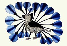 Kenojuak Ashevak - Owl in Blue - 1991.