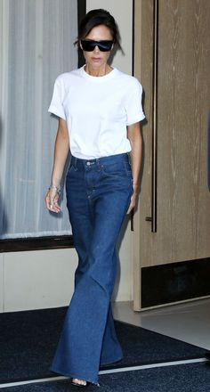 Victoria Beckham Has Retired Her Skinny Jeans for These via @WhoWhatWearUK