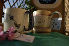 Tazze da te o da latte con manico. Tea cups or milk with di LabLiu, €12.00