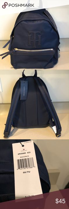 Tommy Hilfiger Navy Blue Backpack new with tags Tommy Hilfiger Nylon Backpack Handbag Navy Blue, Retail price $108! You can buy it for $45!! Tommy Hilfiger Bags Backpacks