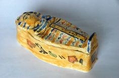 make an Egyptian sarcophagus  great tutorial for using clay    #handson  #egyptians  #homeschool