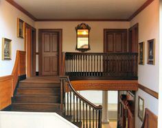 1:12 scale reproduction of George Washington's home at Mount Vernon, Virginia - Upstairs Hall