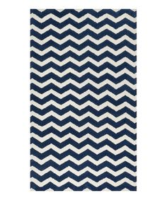 Look at this #zulilyfind! Navy Wave Zoey Rug by Loloi Rugs #zulilyfinds