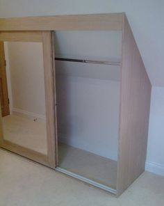Image result for organizing a closet with a slanted ceiling