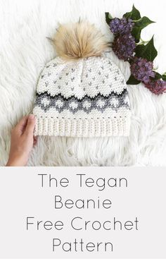 91ee8c73729 Crochet Hats · Free Tapestry Crochet Beanie pattern for the Tegan Beanie!  Color Chart is provided as well