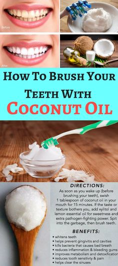 How to brush your teeth with coconut oil – OBSOLO