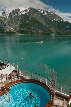 Go on an Alaskan Cruise! This was our view cruising through Glacier Bay, Alaska. The scenery was incredible!: