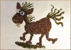 Incredible Coffee Bean Art by Irina Nikitina - Smashcave