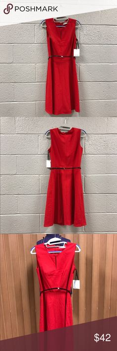 Red CK dress Lady in RED Calvin Klein dress  Calvin Klein Dresses