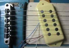 """Sentell Pickups 7/16"""" Dogear Surface Mount  NO CAVITY REQUIRED 11.9K Ohms 43 A.W.G hand-wound 1/4'' Al-5 mags Wax Potted / Feedback Removed Four conductor hook-up wire Fiberboard flat work bobbins PICK-UP HAS A SWEET VINTAGE TONE 7/16'' high approx $80.00"""