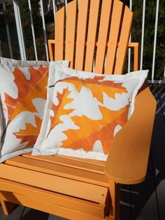 Outdoor pillow oak leaf autumn throw pillow painted by crabbychris