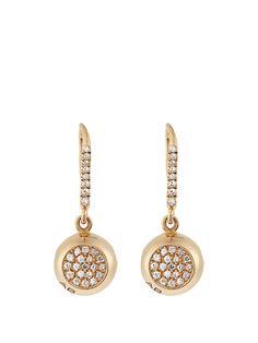 Aurélie Bidermann Fine Jewellery Diamond & yellow-gold earrings