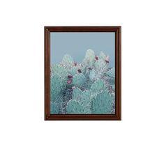 "Desert Blues Framed Print by Jane Wilder, 16 x 20"", Ridged Distressed Frame, Espresso, No Mat"
