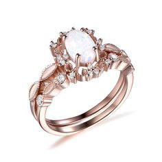 Charles And Colvard Moissanite, Diamond Tiara, Wedding Bands, Wedding Ring, Bridal Ring Sets, Pave Ring, Custom Jewelry, Opal, White Gold