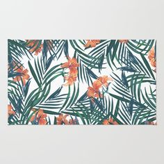 Tropical Lilies rug