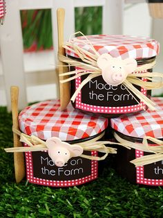 Barnyard Birthday - Homemade Chocolate Pots