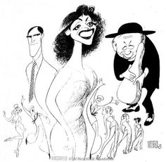 Patti Lupone, Anything Goes Revival. Al Hirschfeld.