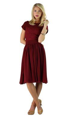 modest dresses  | Modest Dresses: Isabel in Deep Red