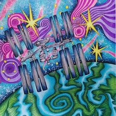 International Space Station from The Magical City  #lizziemarycullen #themagicalcity #adultcoloringbook #adultcoloring #coloringbook #coloring #omalovanky #målarbok #antistresstherapy #arttherapie #art #relax #marcoraffine #marcoraffinepencils #kohinoor #fabercastell #nasa #iss #internationalspacestation #earth #galaxy #galaxysky #bayan_boyan #colorindolivrostop #divasdasartes #arte_e_colorir #papelcomcor
