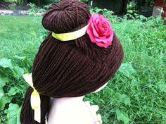 Belle Costume Hair Belle Wig Princess by ThePurplePumpkinShop